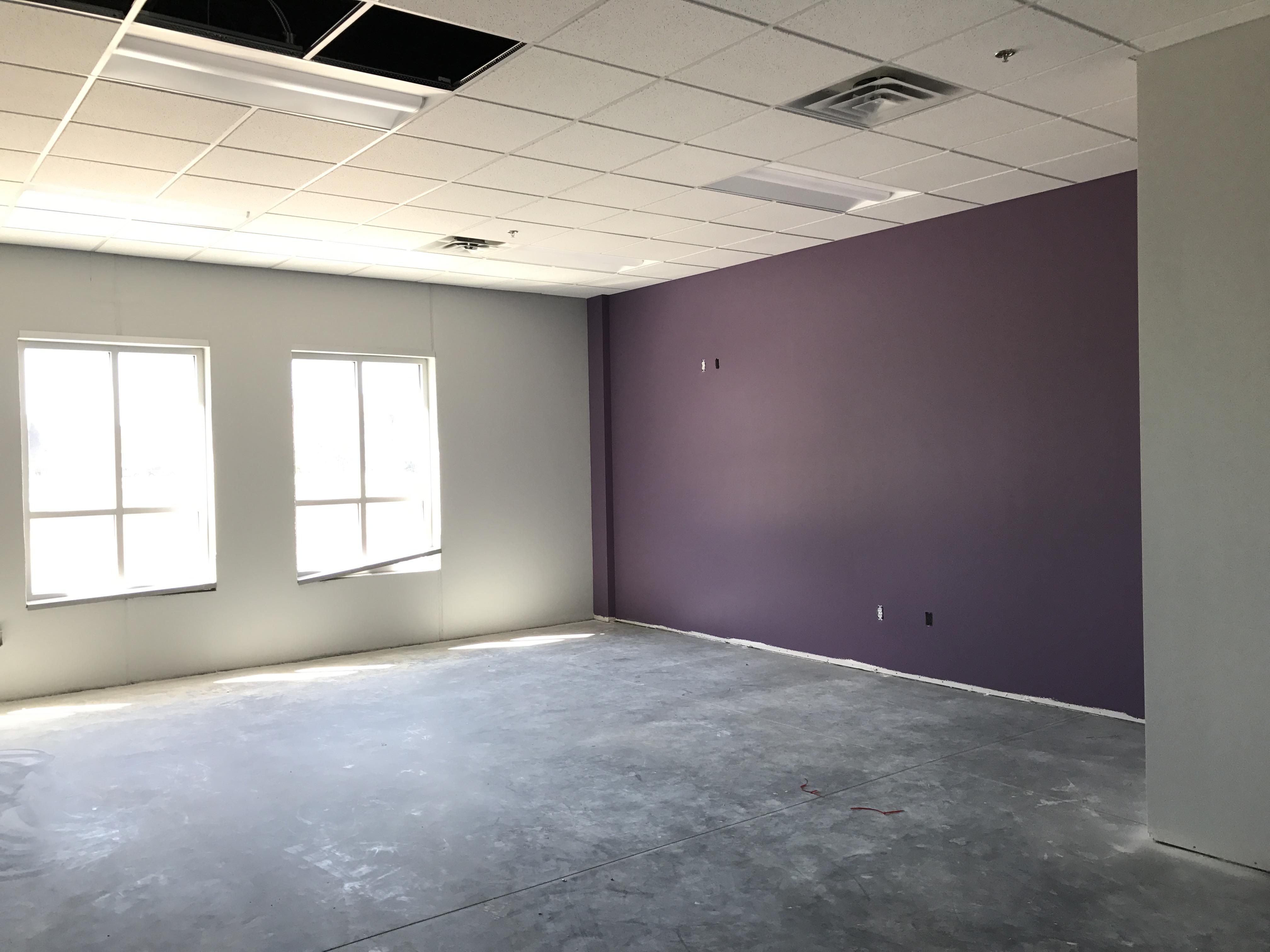 School construction company example of classroom-lavender walls.jpg