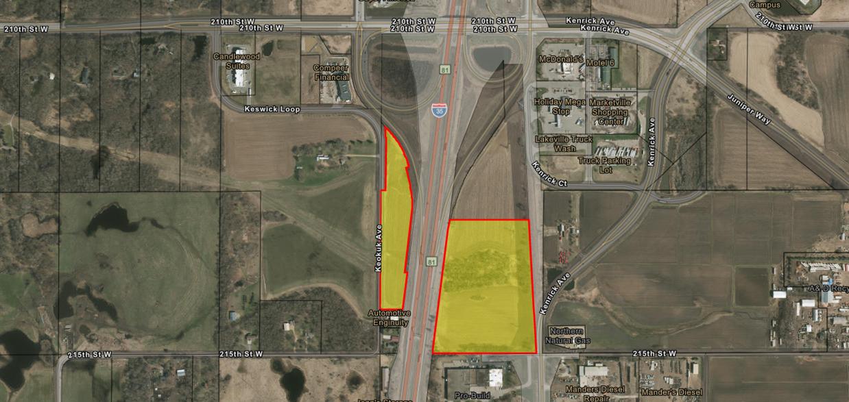 Lakeville Commercial Land Site - SEQ-SWQ-I35-CR-70 - MN
